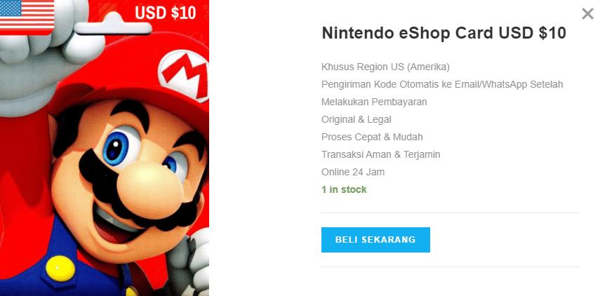 4 Alasan Kenapa Kamu Harus Membeli Nintendo eShop Card USD