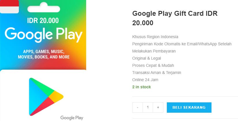 Beli Google Play gift card IDR untuk Menikmati Kemudahan Bertransaksi